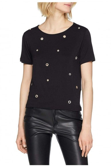 Guess Maglie   Eyelets top Donna Nero Fashion