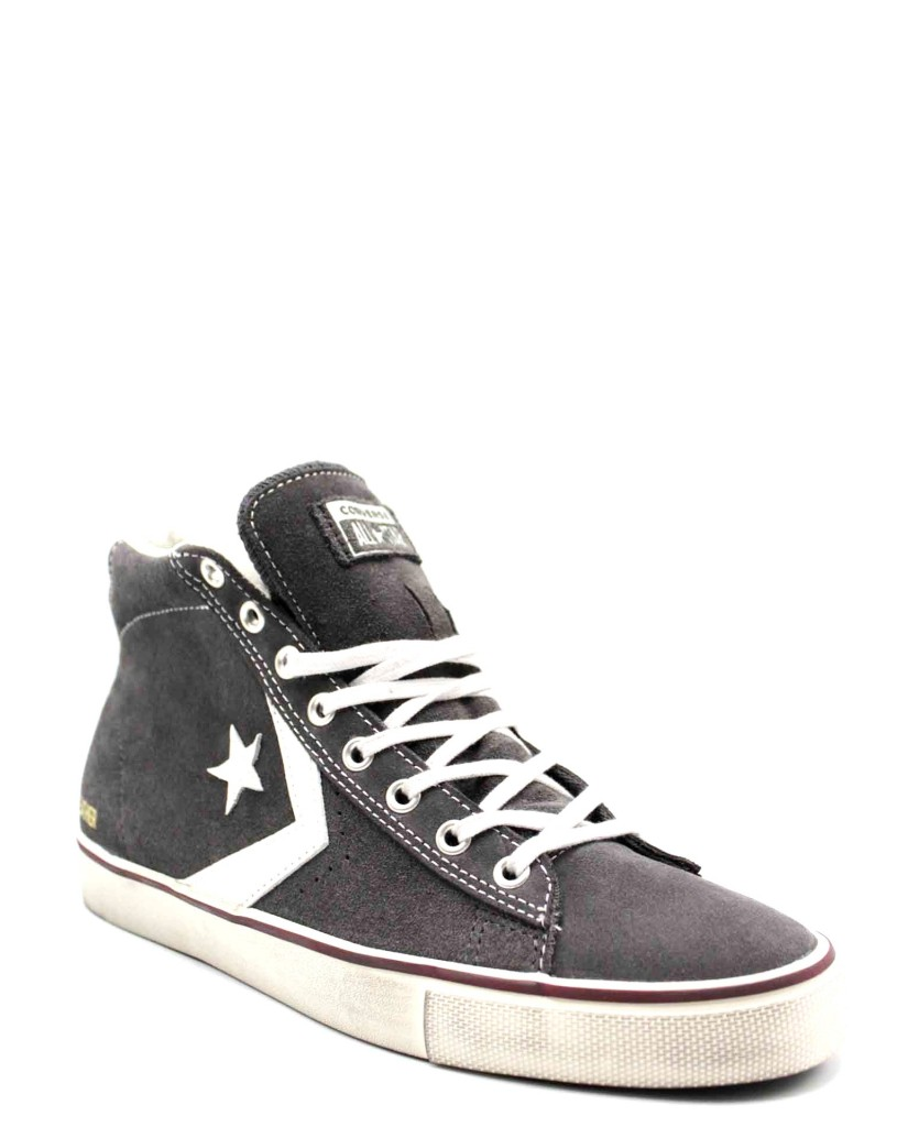 Converse Sneakers F.gomma Pro leather vulc distressed mid sto Uomo Grigio Casual