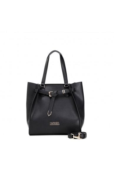 Cafe' noir Borse   Shopping cinturino con nodo Donna Nero Fashion