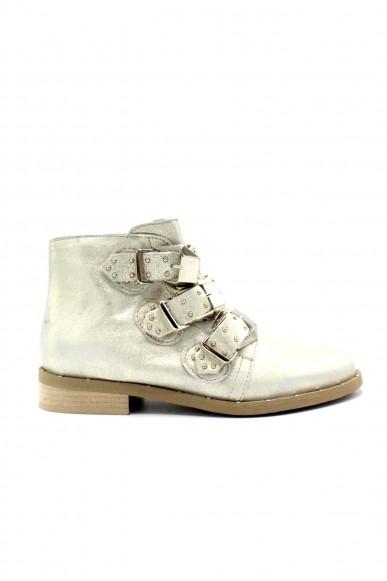 Nicole Tronchetti F.gomma 36/40 ankle boot made in italy Donna Platino Fashion