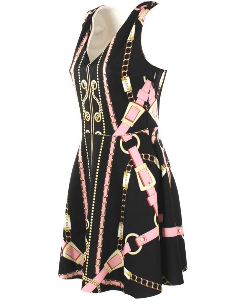 Guess Abiti   Galina dress Donna Nero Fashion