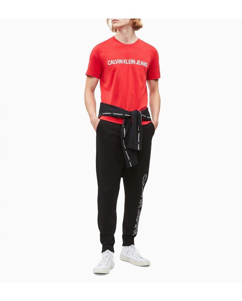 Calvin klein jeans T-shirt   Institutional logo Uomo Rosso Fashion