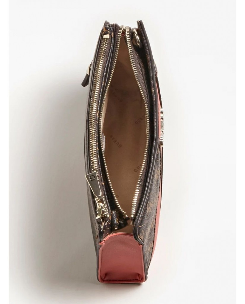 Guess Borse   Camy double zip crossbody Donna Marrone Fashion