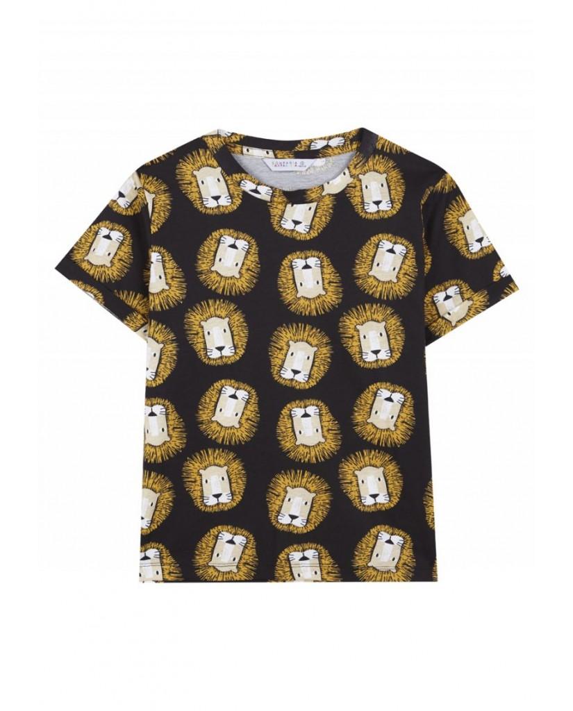 Compagnia fantastica T-shirt   Maglietta nera cotone leoni Donna Nero Fashion