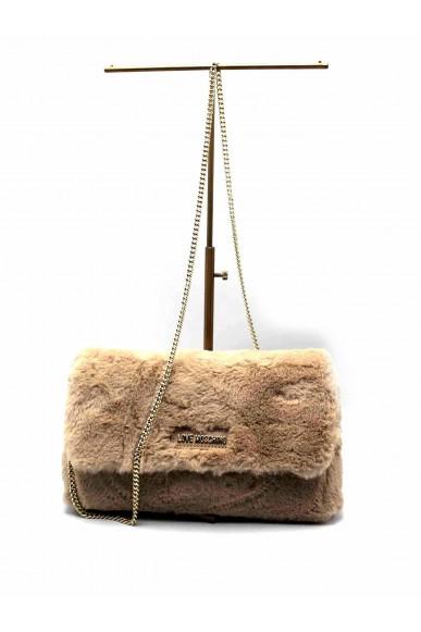 Moschino Tracolle   Borsa eco pellicciotto Donna Camel Fashion
