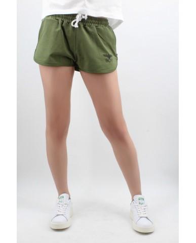 Boy london Shorts Donna Verde militare Casual