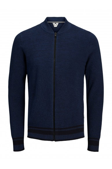 Jackejones Cardigan   Jcoelias knit cardigan Uomo Blu Fashion