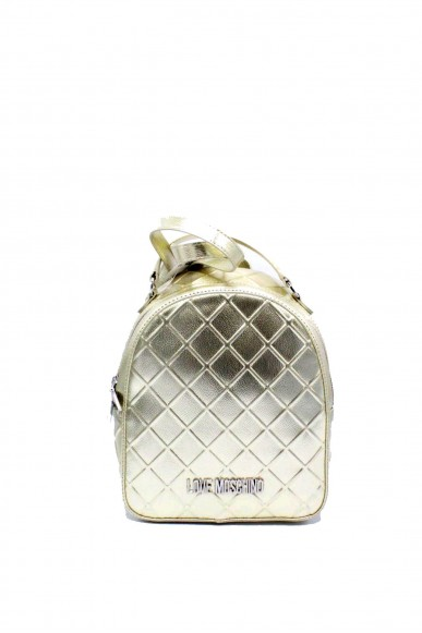 Moschino Backpacks - Jc4271pp05 zainetto trapuntato metallizzato Donna Oro Fashion
