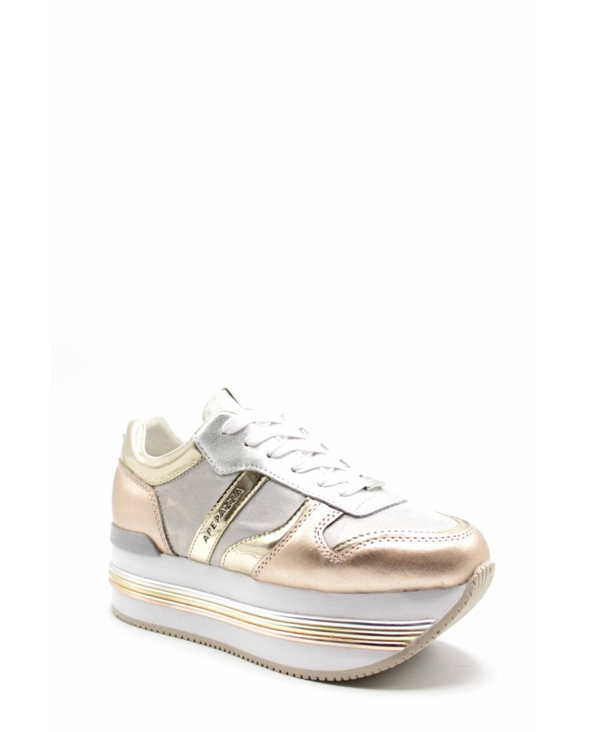 Ape pazza Sneakers F.gomma Rubye Donna Oro-rosa Fashion