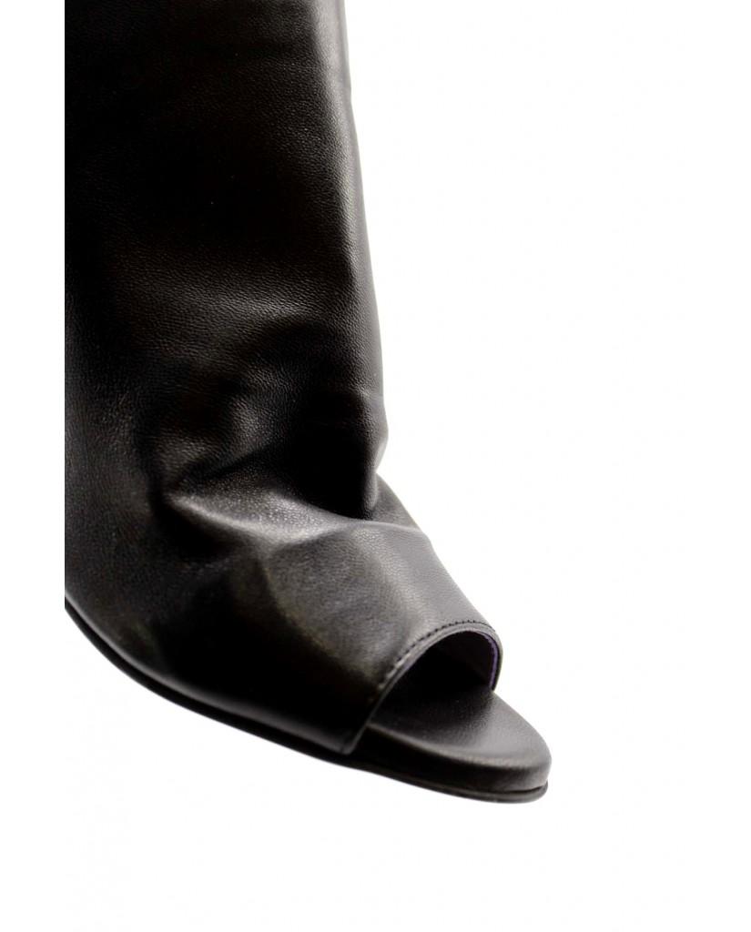Brando Sandali F.gomma 35/41 stell 4 Donna Nero Fashion