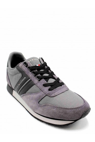 Tommy hilfiger Sneakers F.gomma New iconic material mix runner Uomo Grigio Casual
