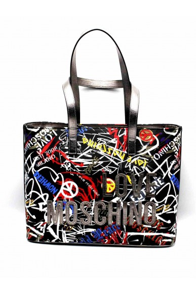 Moschino Borse   Borsa digital print nero Donna Nero Fashion