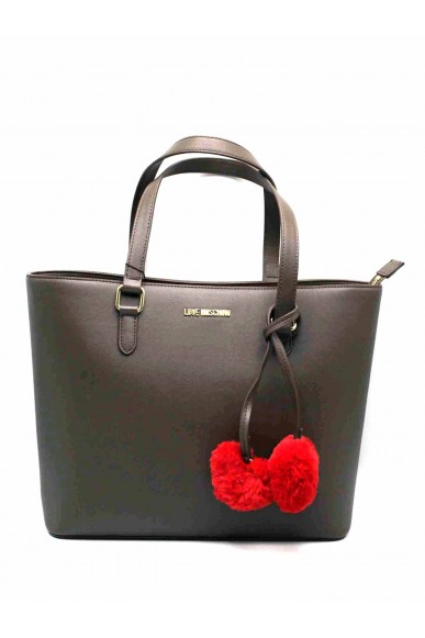 Moschino Borse   Borsa pin grain shopper Donna Taupe Fashion