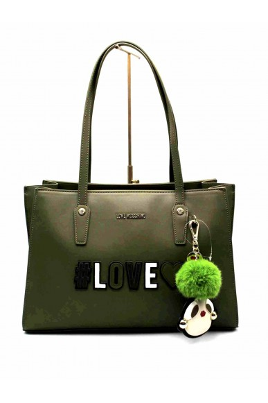 Moschino Borse   Borsa shopper love Donna Verde Fashion