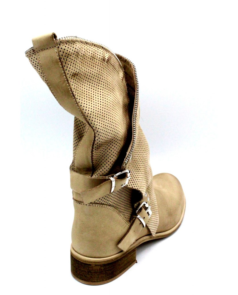 Euroshoes Stivaletti F.gomma 35-41 made in italy Donna Taupe Casual