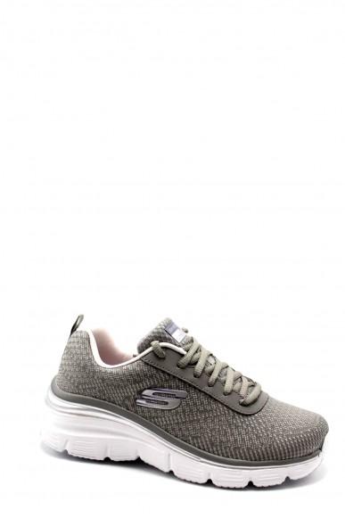Skechers Sneakers F.gomma 36-41 12719 Donna Grigio Casual