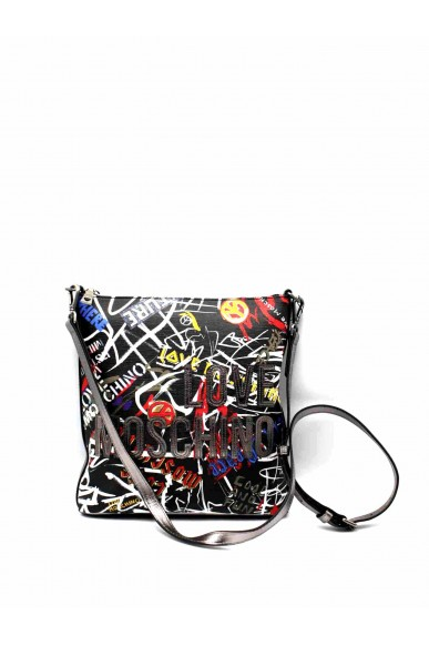 Moschino Borse   Borsa digital print pvc nero Donna Nero Fashion