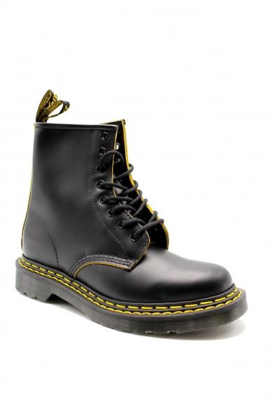 Dr. martens Stivaletti F.gomma 1460 double stitch black/yellow smo Donna Nero Fashion