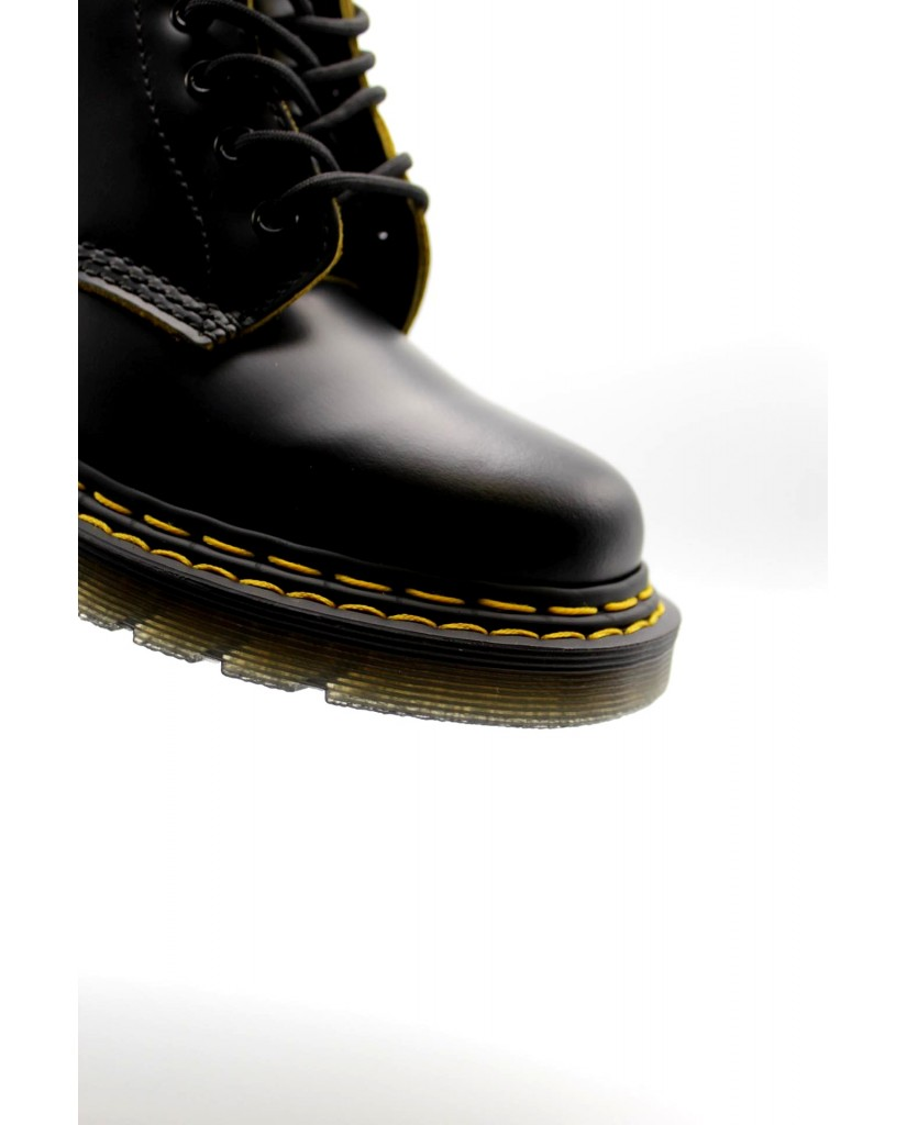 Dr. martens Stivaletti F.gomma 1460 double stitch black/yellow smo Donna Nero Fashion