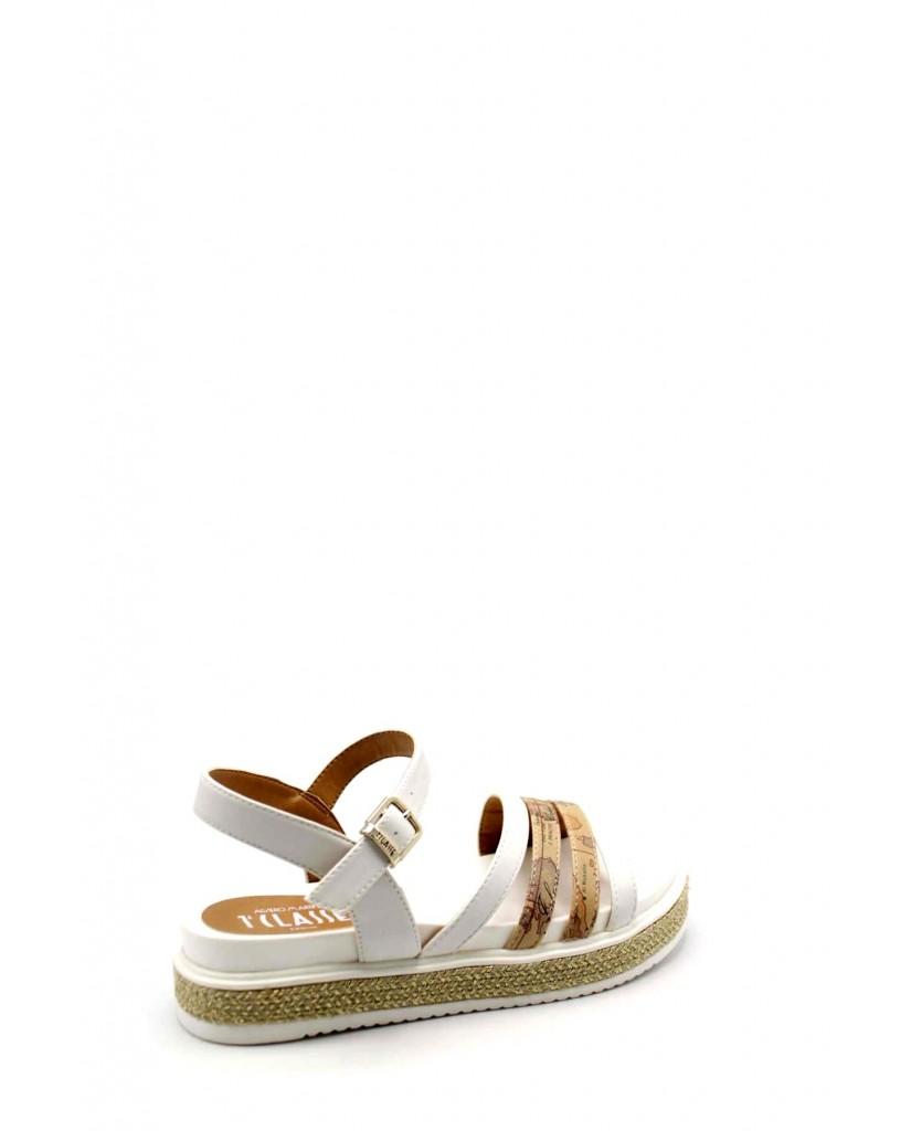 1^classe  Sandali F.gomma Sandalo n0583 0326 Donna Bianco Fashion