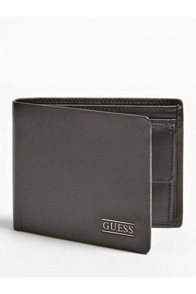 Guess Portafogli   New boston billfold w coin pkt Uomo Nero Fashion