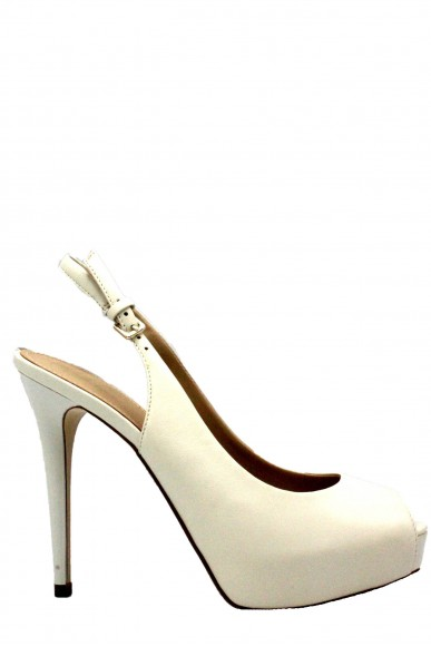 Guess Chanel   Huele8/sling back/leather Donna Avorio Fashion