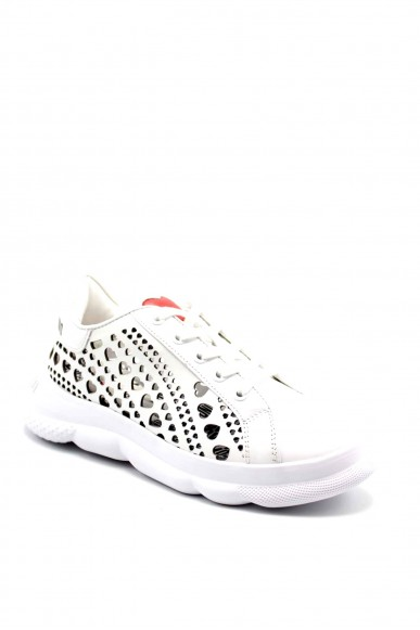 Moschino Sneakers F.gomma Sneakerd.camp40 vitello nero Donna Bianco Fashion