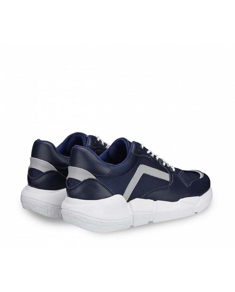 Docksteps Sneakers F.gomma Chunky low m 080 fabric/leather nav Uomo Blu Casual