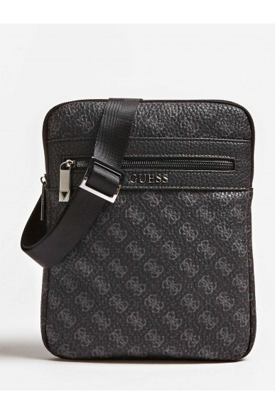 Guess Tracolle   City logo flat crossbody Uomo Nero Fashion