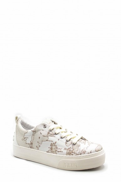 1^classe  Sneakers F.gomma N0200 Donna Bianco Fashion