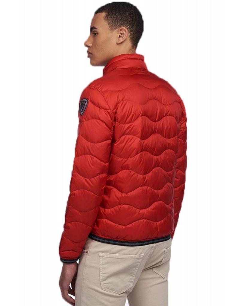 Blauer Giacchetti   Giubbini corti imbottito piuma Uomo Rosso Fashion
