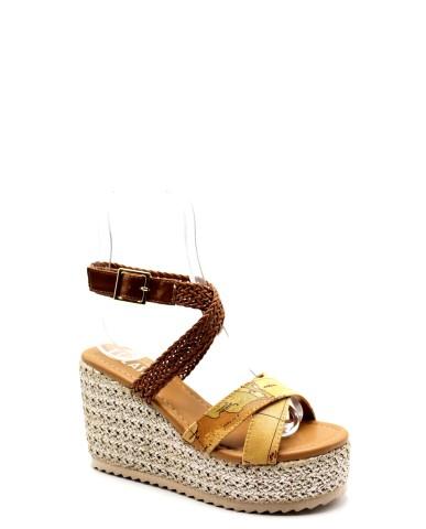 1^classe  Sandali F.gomma Sandalo zeppa h70 Donna Nocciola Fashion