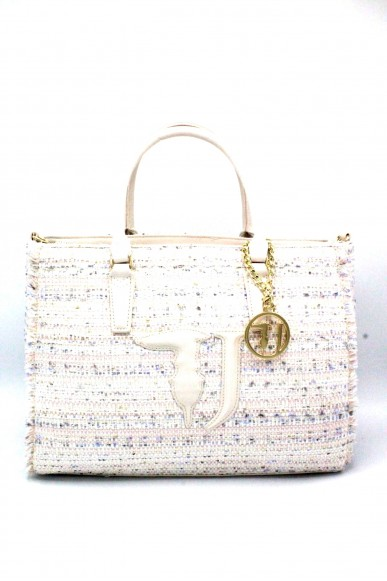 Trussardi Borse Shopping bag media Donna Bianco Fashion