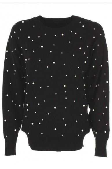 Guess Maglioni   Ls lena sweater Donna Nero Fashion