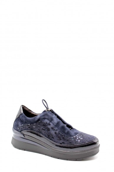 Stonefly Sneakers F.gomma Cream 21 goat suede/synt patent Donna Blu Fashion