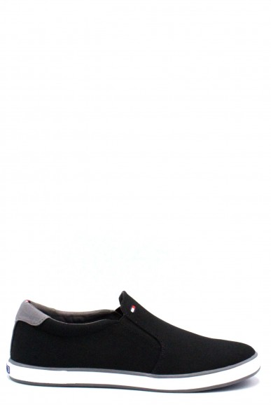 Tommy hilfiger Slip-on F.gomma 40/45 iconic Uomo Nero Fashion