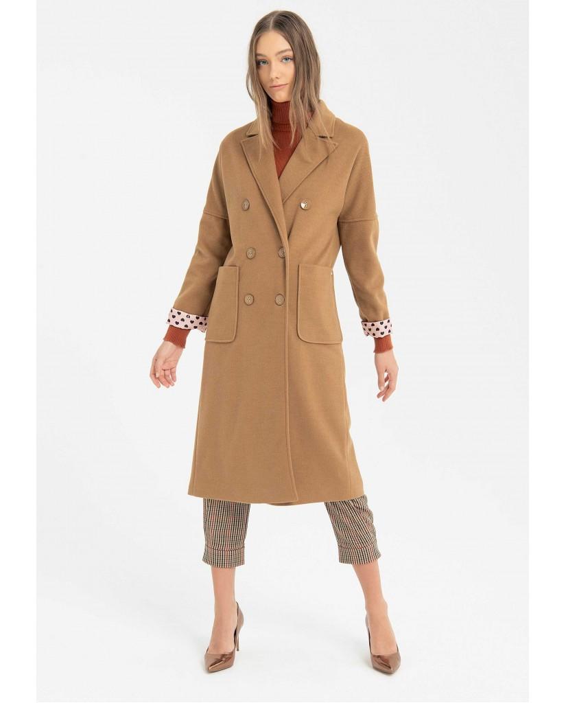 Fracomina Cappotti   743 long coat camel Donna Beige Fashion