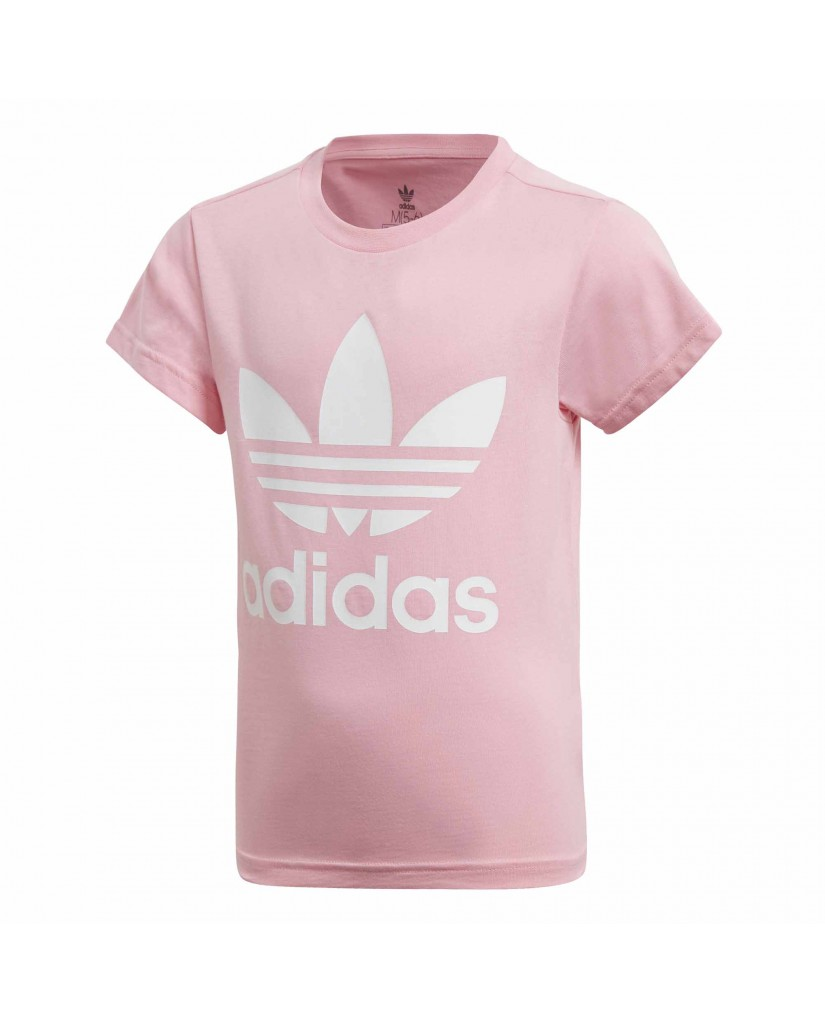 Adidas T-shirt   Trefoil tee         ltpink/white Bambino Rosa Sportivo