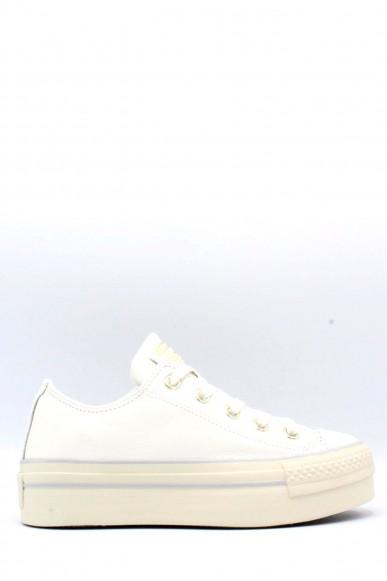 Converse Sneakers F.gomma 35/40 platform Donna Bianco-oro Sportivo