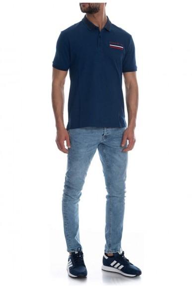 Guess Polo   Jeffrey ss polo Uomo Blu Fashion