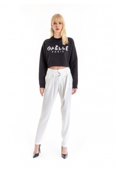 Gaelle paris Maglie   Maglia felpa g/c m/l+stampa Donna Nero Fashion