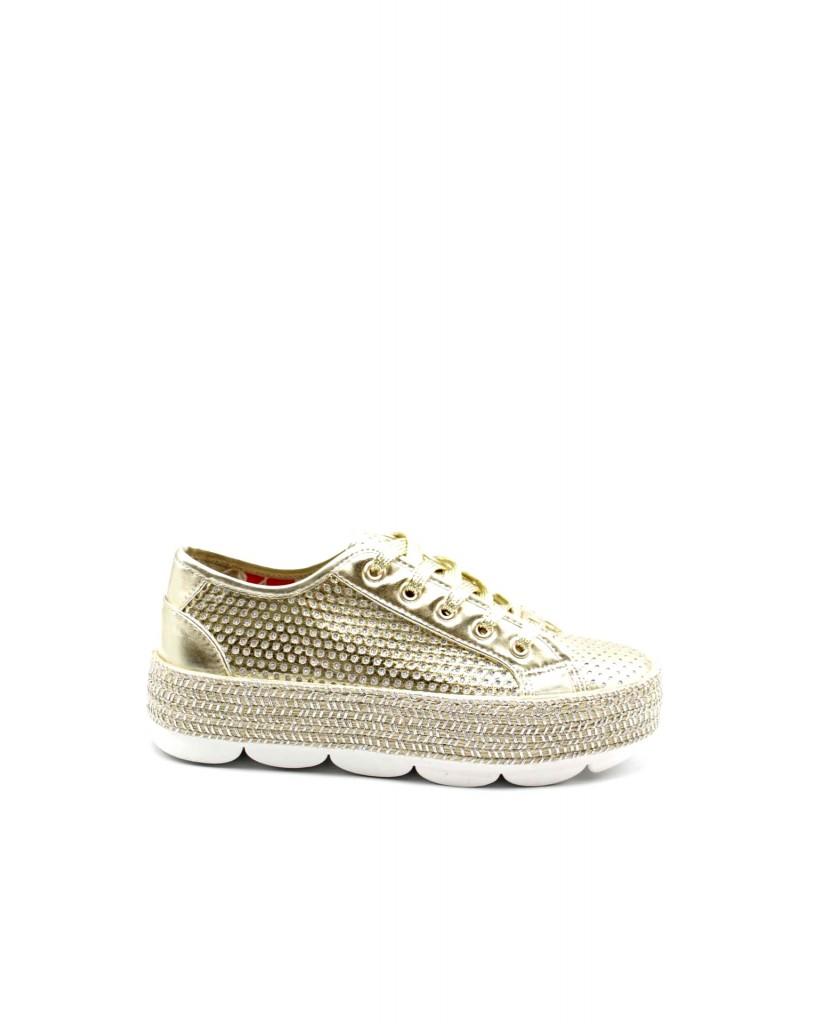 Cafe' noir Sneakers F.gomma Sneakers fascia corda con tomaia tr Donna Platino Fashion
