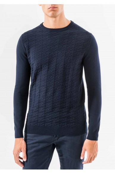 Antony morato Maglie   Knitted sweater Uomo Blu