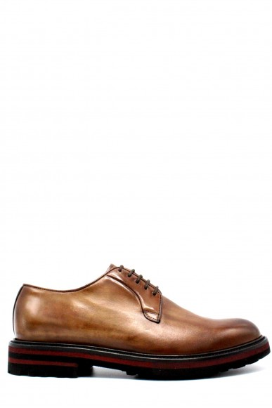 Brecos Stringate F.gomma 40-45 made in italy Uomo Brandy Fashion