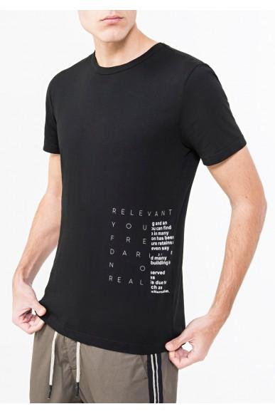 Antony morato T-shirt   T-shirt manica corta con contr Uomo Nero Fashion