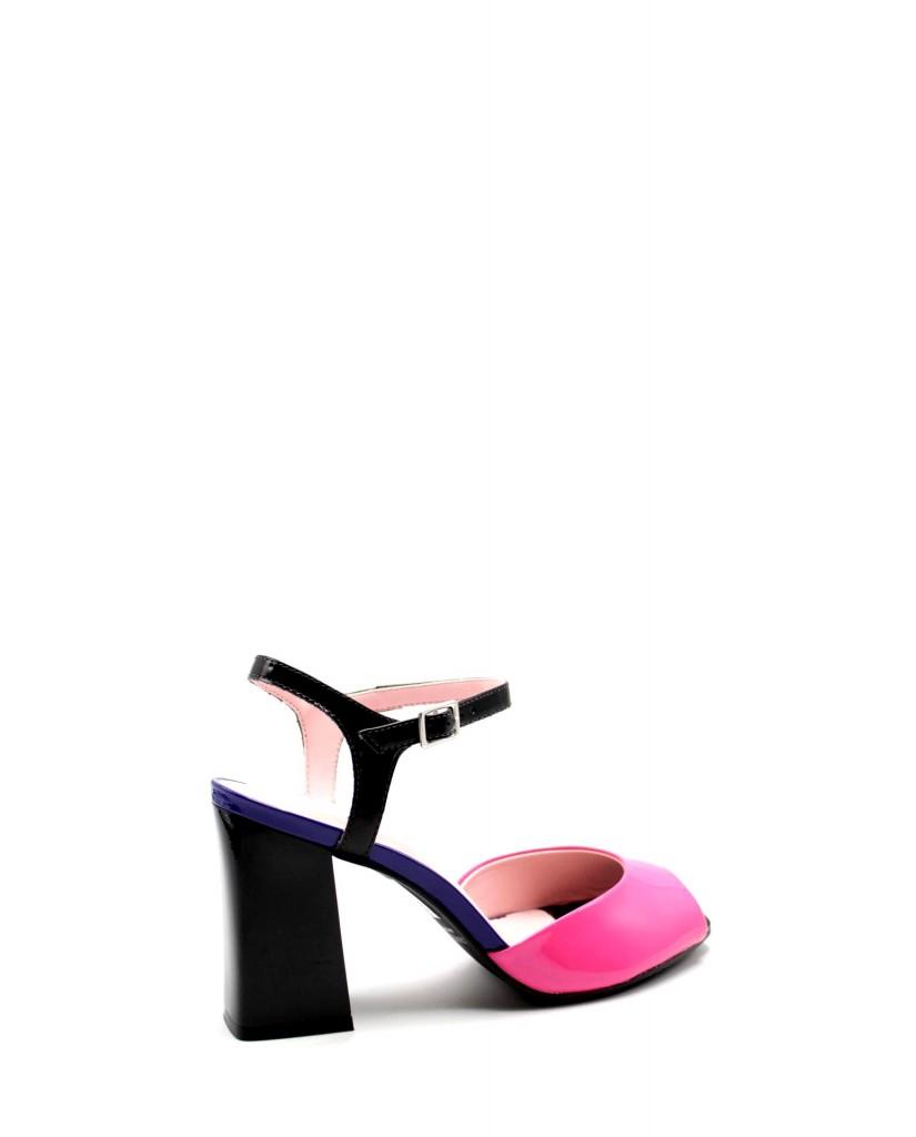 Capelli rossi Sandali F.gomma 9384-407-498 Donna Nero Fashion