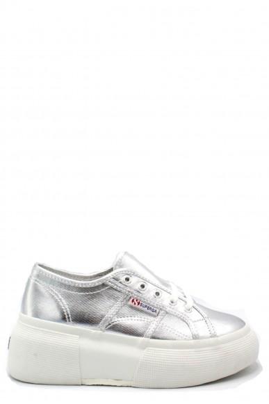 Superga Sneakers F.gomma 35/41 2287 cotmetw Donna Grigio-argento Sportivo