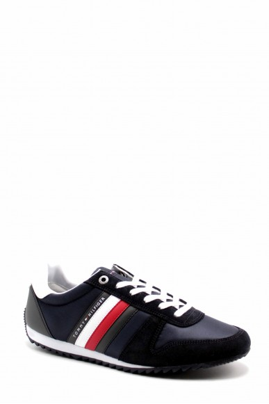Tommy hilfiger Sneakers F.gomma Essential nylon runner Uomo Blu Fashion