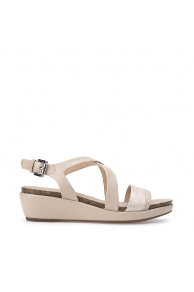 Geox Sandali F.gomma Abbie Donna Lt taupe/champagne Casual