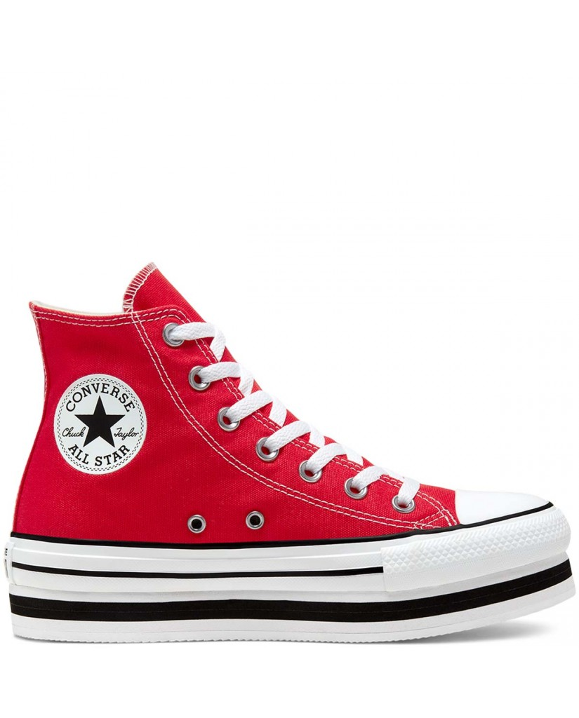 Converse Sneakers F.gomma Chuck taylor all star layer bottom Donna Rosso Fashion